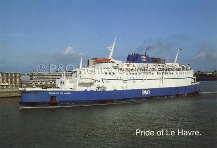 PRIDE OF LE HAVRE leaving Portsmouth
