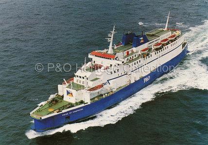 PRIDE OF HAMPSHIRE at sea