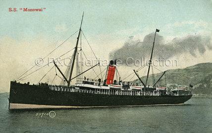 MONOWAI at sea