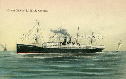 OROTAVA at sea