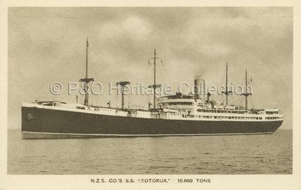ROTORUA at sea
