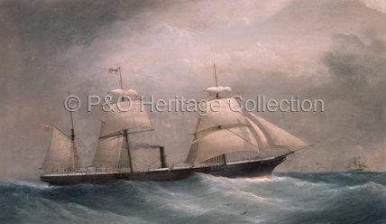 ORISSA under sail and steam