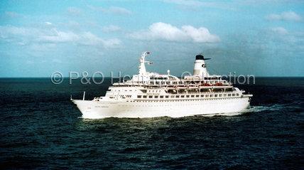PACIFIC PRINCESS at sea