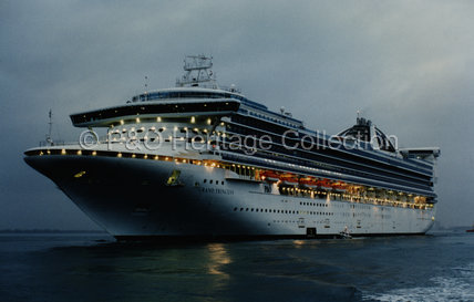 GRAND PRINCESS on sea trials in Italy