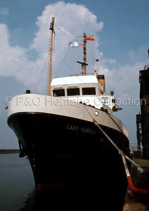 LADY PAMELA in port