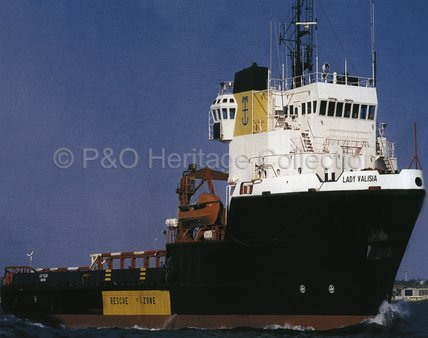 LADY VALISIA in harbour