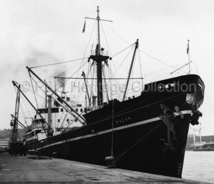 RAJAH moored in port