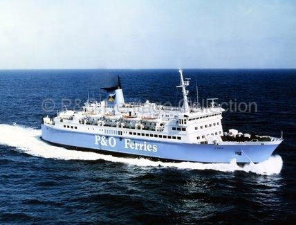 N F TIGER at sea