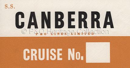 CANBERRA baggage label