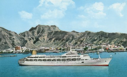 CANBERRA at Steamer Point, Aden
