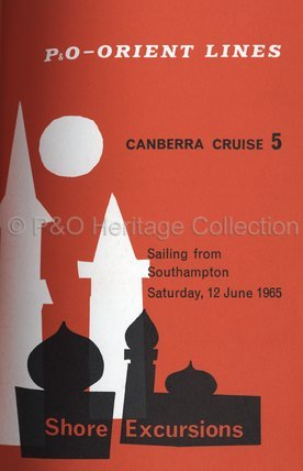 CANBERRA shore excursions brochure 1965