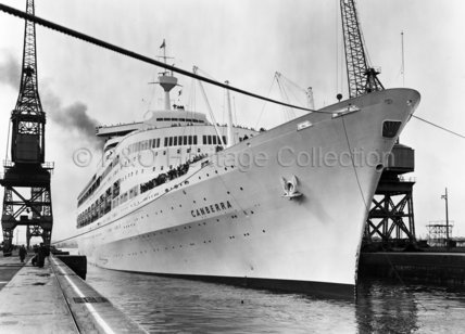 CANBERRA at Southampton's King George V dock