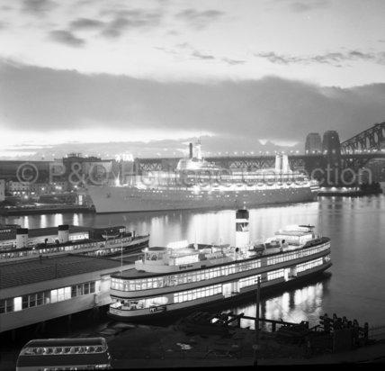 CANBERRA at Sydney at dusk