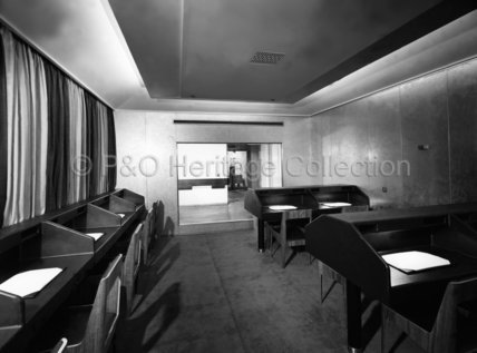 CANBERRA's Tourist Class writing room