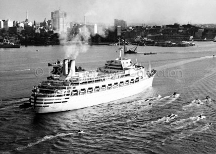 CANBERRA on her Maiden Voyage