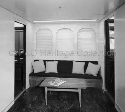 CANBERRA's 'B' Deck First Class hallway