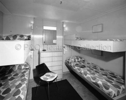 CANBERRA's Tourist Class 2+2 berth cabin