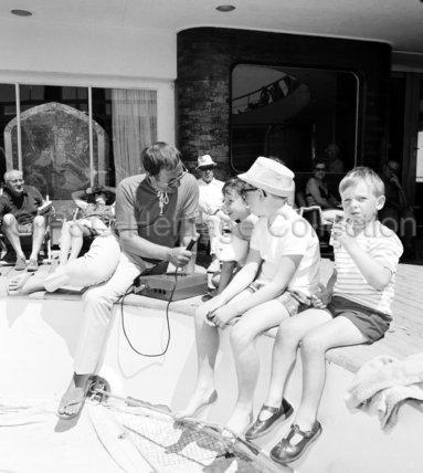 Interviewing children on board CANBERRA