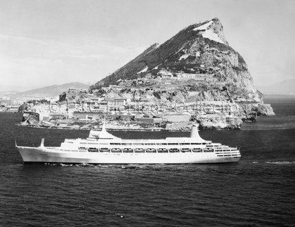 CANBERRA passing Gibraltar