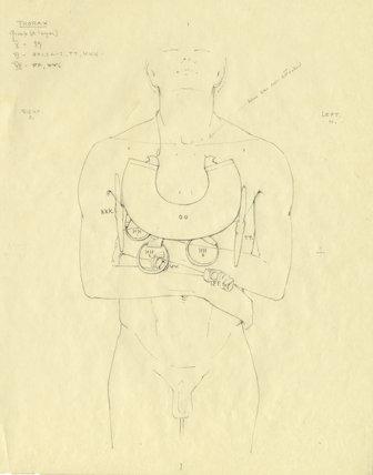 Collar and amulets on Tutankhamun's mummy