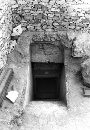 Entrance to the tomb of Tutankhamun