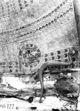 Detail of body of Tutankhamun's chariot