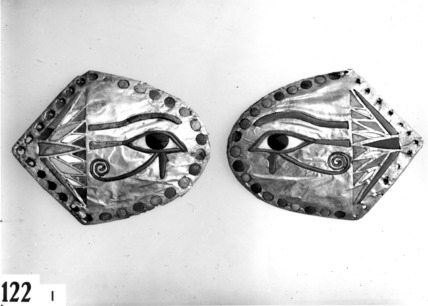 Horse blinkers from the assemblage for chariot 122