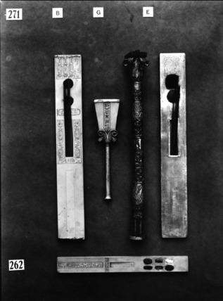 Tutankhamun's writing equipment