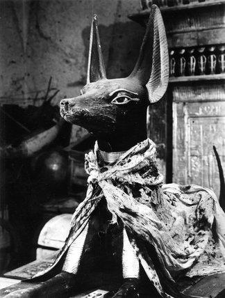 The Anubis jackal on a portable shrine