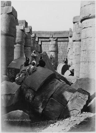 Fallen Columns in the Hypostyle Hall, Karnak