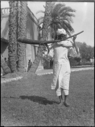 Man Sounding a War Trumpet