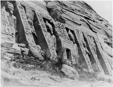 Abu Simbel, facade of the Temple of Queen Nefertari