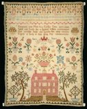English bordered sampler, by Sarah Stuart