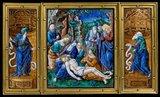 Lamentation, Limoges enamel by Pierre Reymond