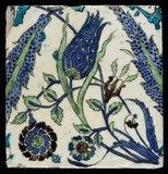 Iznik tile with a tulip, Ottoman