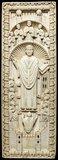 Lotharingian ivory panel, an Archbishop among his choir