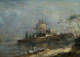 View Near Venice, by Francesco Guardi