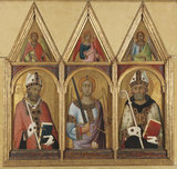 St Geminianus, St Michael and St Augustine, by Simone Martini