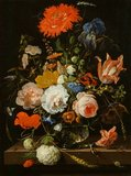 Flower-piece, by Abraham Mignon