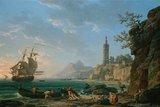 A coastal Mediterranean landscape, by Joseph Vernet