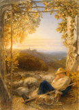 The sleeping shepherd, morning, by Samuel Palmer