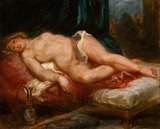 Odalisque reclining on a divan, by Delacroix