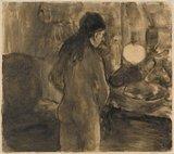 Femme a sa Toilette (La Cuvette), by Degas