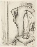 Femme a sa toilette, by Degas