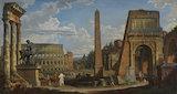 A Capriccio of Roman Ruins, by Giovanni Paolo Pannini
