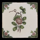 English earthenware tile with strawberries