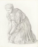 Study for the 'Mirror of Venus', by Burne-Jones