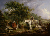 Morning, or the Benevolent Sportsman, by George Morland