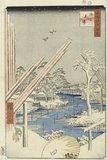 Fukagawa kiba, by Hiroshige