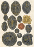 Studies of Seals from Whalley Abbey, by Turner
